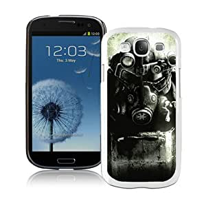 Excellent protection Fallout Enclave Armor White Cover Case For Samsung Galaxy S3