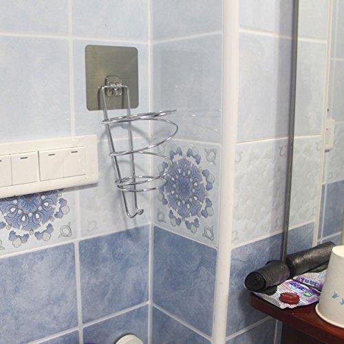 Hair Dryer Holder,Hair Dryer Shelf,Hair Blow Dryer Holder, magic stick strength seamless hair dryer rack Wall-mounted toilet bathroom air tube storage racks by JIJISADA