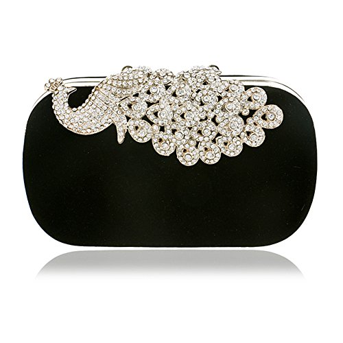 Wedding Clutch Bags Rhinestones Evening Bag Beaded Purse Women Bag LOU Evening Knickers Hard Pearl Handbags for Polyester Case Women's Event C Bag 8qwIaPE