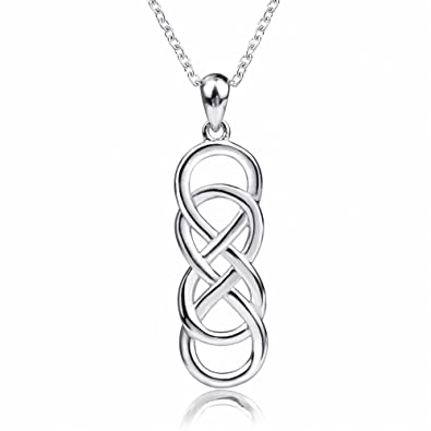 Yg 925 Sterling Silver Double Infinite Symbol Form An Irish Celtic