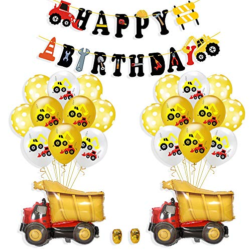 Construction Birthday Party Supplies Dump Truck Party Decorations Kits Set for Kids Birthday Party provide