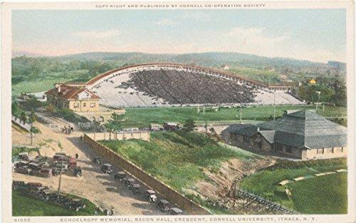 Historic Pictoric Postcard Print | Schoelkopf Memorial, Bacon Hall, Crescent, Cornell University, Ithaca, N. Y, 1898 | Vintage Fine - Postcard Bacon