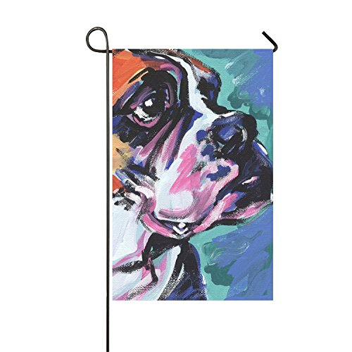 azfvv Boxer Dog Garden Printed Flag Double-sided Home Flag Weather Resistant-12 x 18 - Boxers Indian