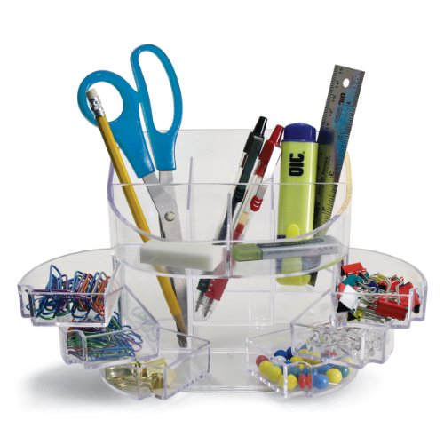 Officemate 2200 Series Executive Double Supply Organizer, Clear (22824) ()