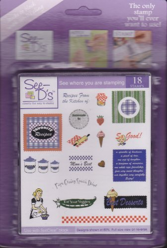 - See D's Recipes 23 Rubber Stamps and Case # 50209 Inque Boutique Sugarloaf