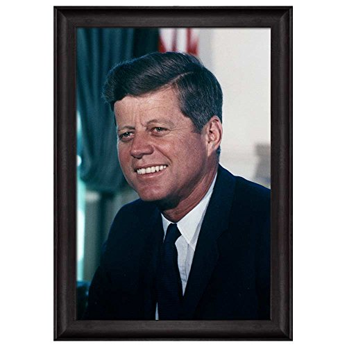 Portrait of John F Kennedy (35th President of the United States) American Presidents Series Framed Art Print