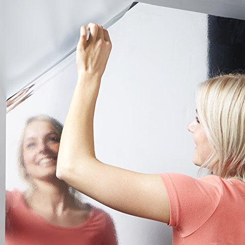 Spiegelfolie, selbstklebende Folie, silber 58 x 150 cm