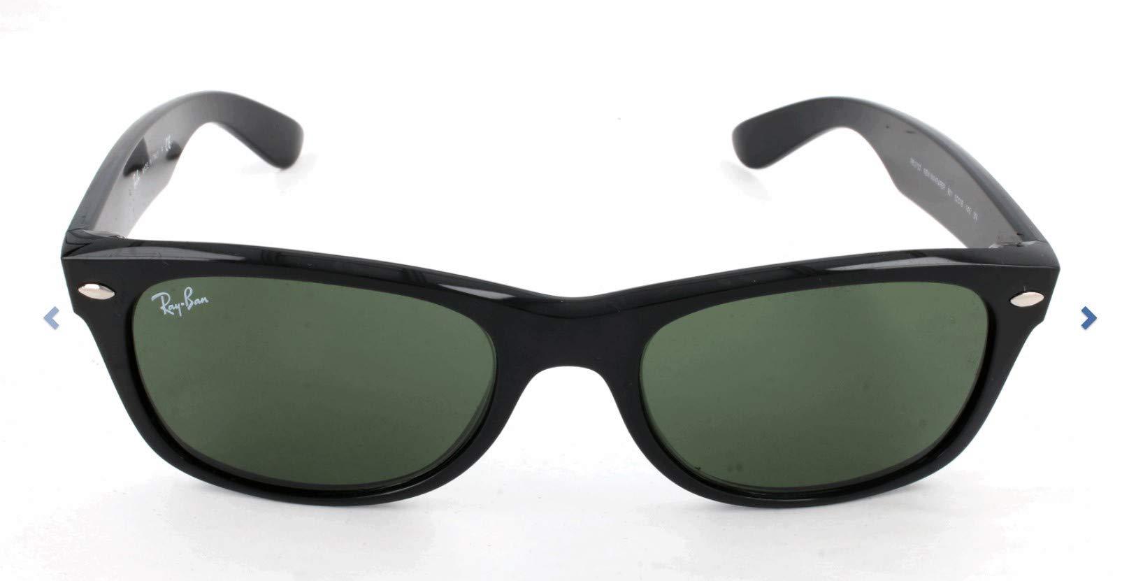 Ray-Ban RB2132 New Wayfarer Sunglasses, Black/Green, 55 mm by Ray-Ban