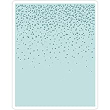 Sizzix Texture Fades A2 Embossing Folder-Snowfall/Speckles By Tim Holtz
