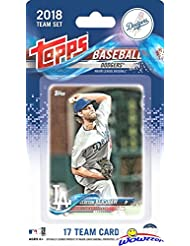 Los Angeles Dodgers 2018 Topps Baseball EXCLUSIVE Special Limited Edition 17 Card Complete Team Set with Clayton Kershaw, Corey Seager, Cody Bellinger & Many More! Shipped in Bubble Mailer! WOWZZER!