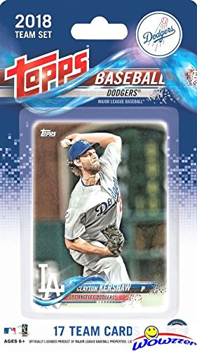 Los Angeles Dodgers 2018 Topps Baseball EXCLUSIVE Special Limited Edition 17 Card Complete Team Set with Clayton Kershaw, Corey Seager, Cody Bellinger & Many More! Shipped in Bubble Mailer! WOWZZER! (Mlb Team Topps Set)