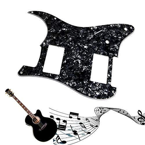 Susie-Smile - Wonderful Quality3Ply Guitar Pickguard For Fender Stratocaster Strat HH 2 Humbucker Pearl Black Guitar Parts (Best Strat Under 1000)