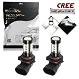 4x4 module for 2002 ford explorer - Partsam Cost-effective Pack2 9006 HB4 80W White 6000K Fog Light Driving Lamp made by High Power Epistar LED w/in-bulit IC Control and Black Auminum Alloy