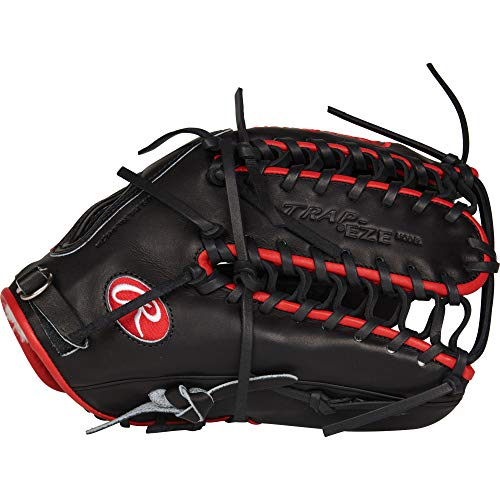 Rawlings PROSMT27 Pro Preferred Mike Trout Baseball Gloves (Right Hand), Black, Size 12.75