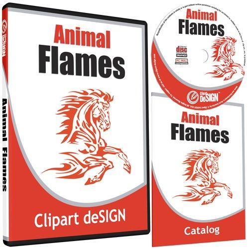 Sign Vector Eps - Animal Flames Clipart-Animal Vinyl Cutter Plotter Clip Art Graphics-Digital Sign Design Images-EPS Vector Art Software CD-ROM