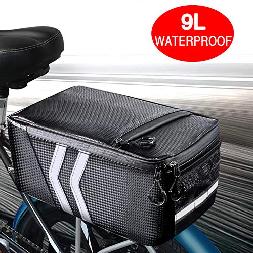Review ZQ SUNNY Bike Trunk Bag,Multi Function Waterproof Reflective Mountain Road Bicycle Seat Bag T...