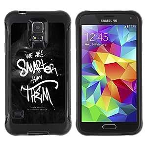 Suave TPU GEL Carcasa Funda Silicona Blando Estuche Caso de protección (para) Samsung Galaxy S5 V / CECELL Phone case / / We Are Smarter Than Them /