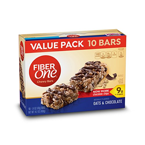 Fiber One Bar Oats and Chocolate Bars, 10 Count (Oats One Fiber)