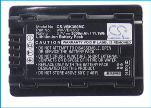 Replacement Battery for HC-V10 HC-V100 HC-V100M HC-V500 HC-V500M HC-V700 HC-V700M HDC-HS60K HDC-SD40 HDC-SD60 HDC-SD60K HDC-SD60S HDC-TM55K HDC-TM60 SDR-H85 SDR-H85A SDR-H85K SDR-H85S SDR-S50