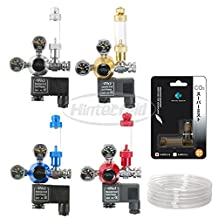 Aquarium DICI Dual Gauge CO2 Solenoid Regulator System Horiazontal Thread Set (Gold Regulator Set -US Standard)
