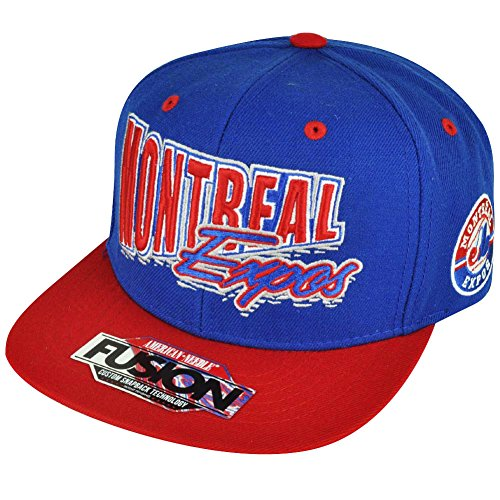 AMERICAN NEEDLE Montreal Expos Throwback Logo Snapback Adjustable One Size Hat Cap (Expos Hat)