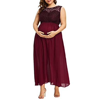 K-youth Vestidos Premama Verano Vestido para Mujeres Embarazadas ...