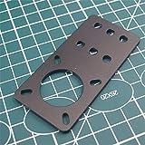 WillBest 1pcs Anodized Aluminum Motor Mount Plate NEMA 17 Stepper Motor for Reprap 3D Printer openbuilds Builds Parts