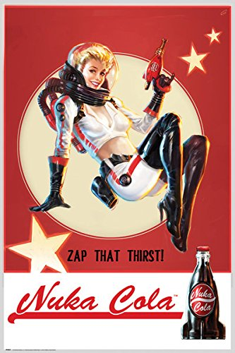 Fallout-4-Gaming-Poster-Print-Nuka-Cola-Girl-Zap-Your-Thirst-Size-24-x-36