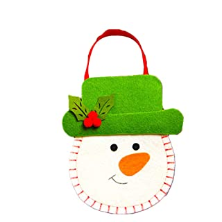 ZYCX123 Borsa Regalo 1pc di Natale del Pupazzo di Neve in Feltro di Natale Trattare Sacchetti di Caramelle Goody Sacchetti Regalo per i favori di Partito e Decorazioni