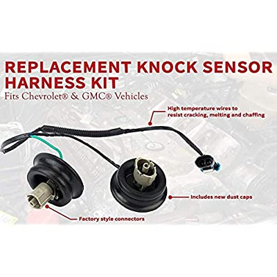 Muzzys Knock Sensor Wire Harness Kit Replaces 917-033 - Fits Chevy Suburban, Chevrolet Silverado, Avalanche, Tahoe GMC Sierra, Yukon, Hummer 4.8, 5.3, 6.0, 2000, 2001, 2002, 2003, 2004, 2005-2007: Automotive