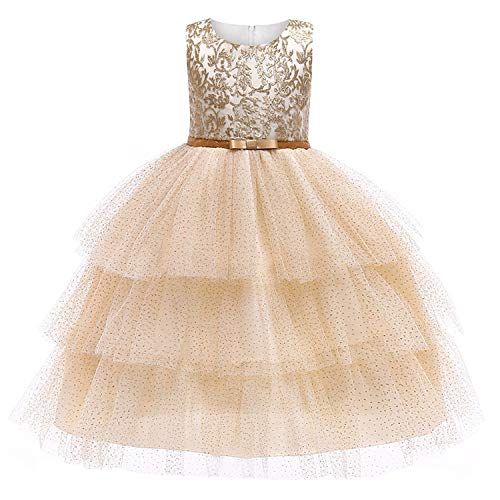 e1b068c59a94 2019 Lace Sequins Formal Evening Wedding Gown Tutu Princess Dress Flower  Girls Children Clothing Kids Party
