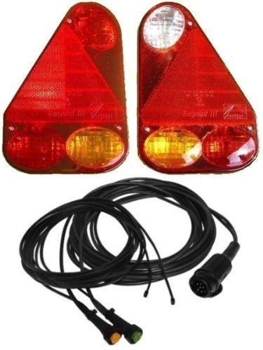 Asp/öck Earpoint 3-13 pol komplett Set Leuchten und Kabel 5 Meter