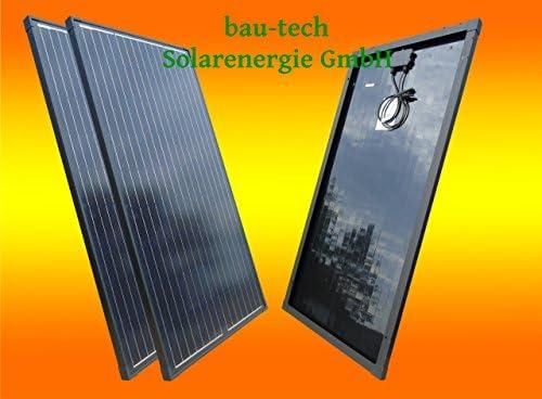 bau-tech Solarenergie 2 Stück 30Watt Solarmodule Solarpanel Monokristallin Full Black (Schwarz) GmbH