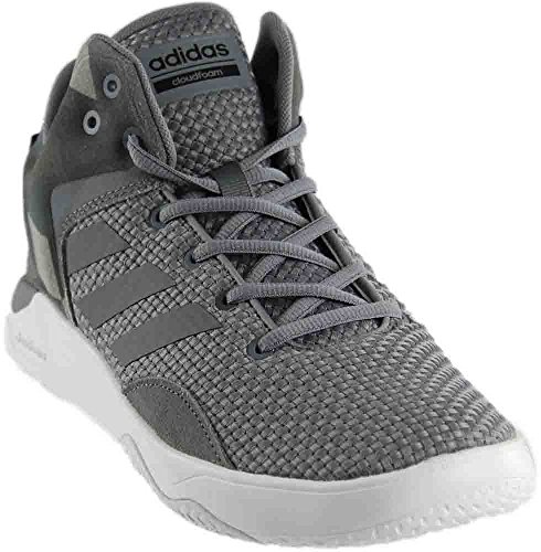 adidas NEO Men's Shoes | Cloudfoam Revival Mid Basketball, Grey/Tech Grey/Black NEO Child code (Shoes)