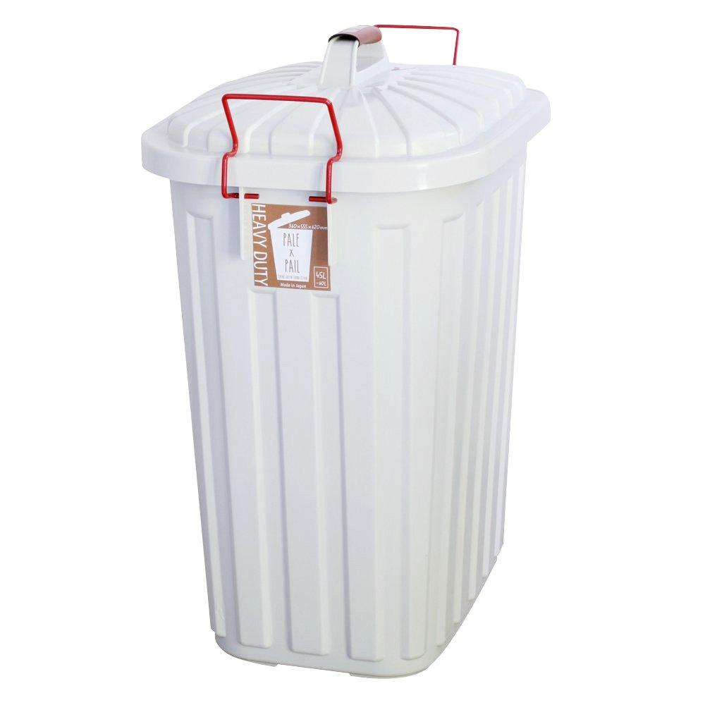 日本製 ダストボックス 屋外 屋内 ふた付き 大容量 ごみ箱 ロック付き ごみ入れ 箱 60L ホワイト B071HTT7WG ホワイト ホワイト