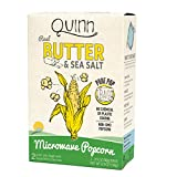 Quinn Popcorn Microwave Popcorn - Made with Organic Non-GMO Corn - Great Snack Food for Movie Night {Butter & Sea Salt, 1 Box}