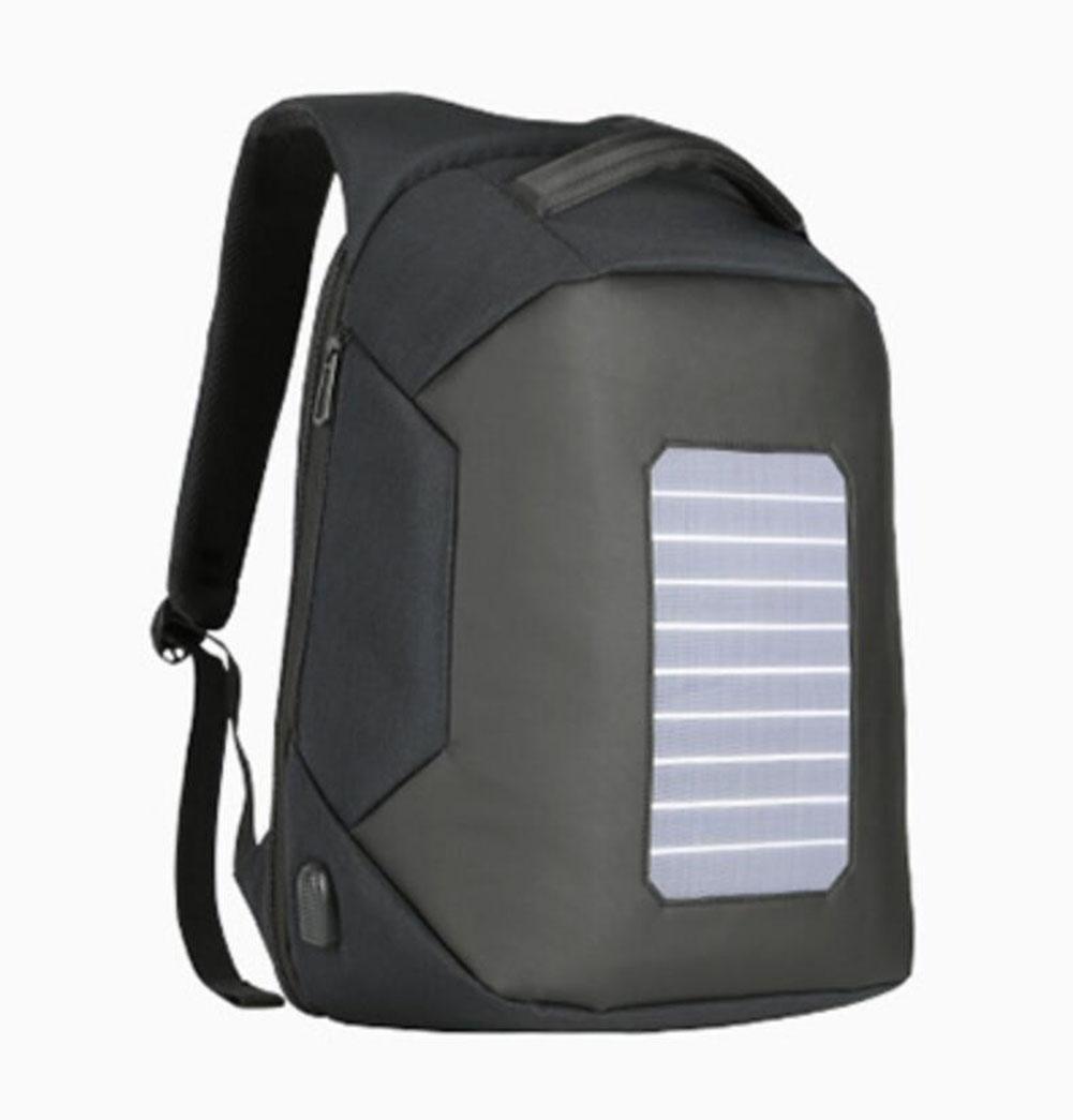 WYXIN Solar Power Anti-Theft Männer Rucksack für 16-Zoll-Laptop externe USB-Ladegerät Travel Rucksack Wasserabweisend
