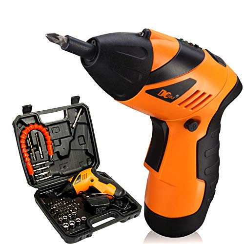 MOPHOTO 4.8-Volt 3 Position Cordless Rechargeable Screwdriver Electric Screwdriver Drill Bit Kit Set with Flashlight (46PC Screwdriver) ()