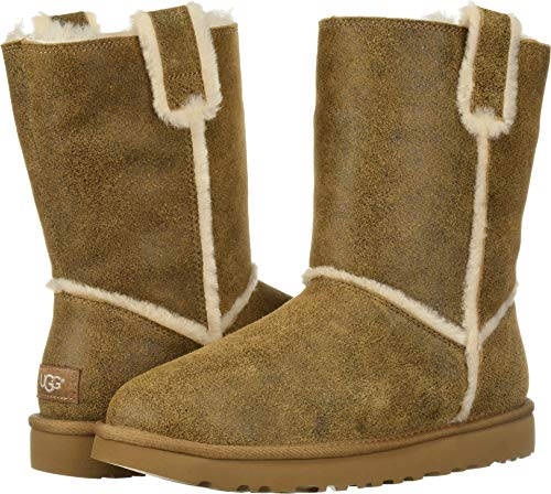 UGG Women's W Classic Short Spill Seam Fashion Boot Chestnut 10 M US - Short Classic Ugg Womens