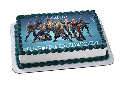 Fortnite Edible Image Cake Topper Personalized Icing Sugar Paper A4 Sheet Edible Frosting Photo Cake 1/4 ~ Best Quality Edible Image for cake by EdibleInkArt (Image #1)