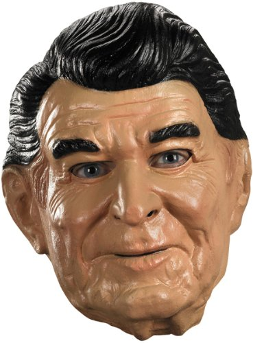 Disguise Reagan Vinyl Costume Mask, Tan/Black/White, -