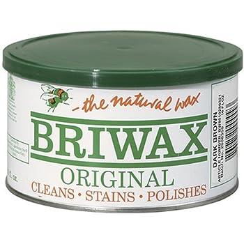 furniture wax. briwax (dark brown) furniture wax polish, cleans, stains, and polishes.