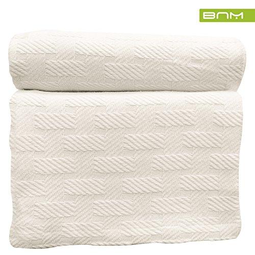 Blue Nile Mills Basket Weave Twin/Twin XL Cotton Blanket, So