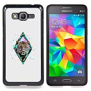 /Skull Market/ - Tiger Cheetah Nature African Abstract For Samsung Galaxy Grand Prime G530H G5308 - Mano cubierta de la caja pintada de encargo de lujo -