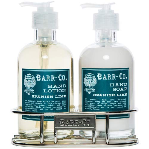 Barr Co Spanish Lime Hand and Body Duo and Caddy Set (Beautiful Soap Lotion)