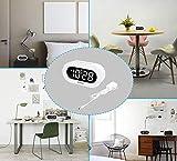 REACHER Small LED Digital Alarm Clock with