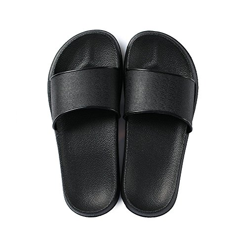 Fashion Women Shoes Sandal (Fendou House Sandal For Women Anti-Slip Bath Slipper Indoor Floor Slipper 2018 New Style (6-7 B(M) US, Black))