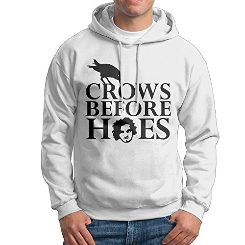 Ice Agent Costume (UFBDJF20 Crows Before Hoes Jon Snow Game Of Thrones Men's Pullover HoodWhite XL)