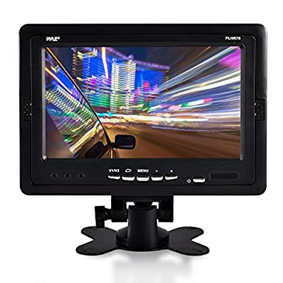 "Premium 7"" Inches Rearview Car LCD Monitor By Pyle - Parking Monitor Assistant With Wireless Remote Control - Full Color Wide Screen - Can Be Installed In Headrest Post (PLHR70) from Sound Around"