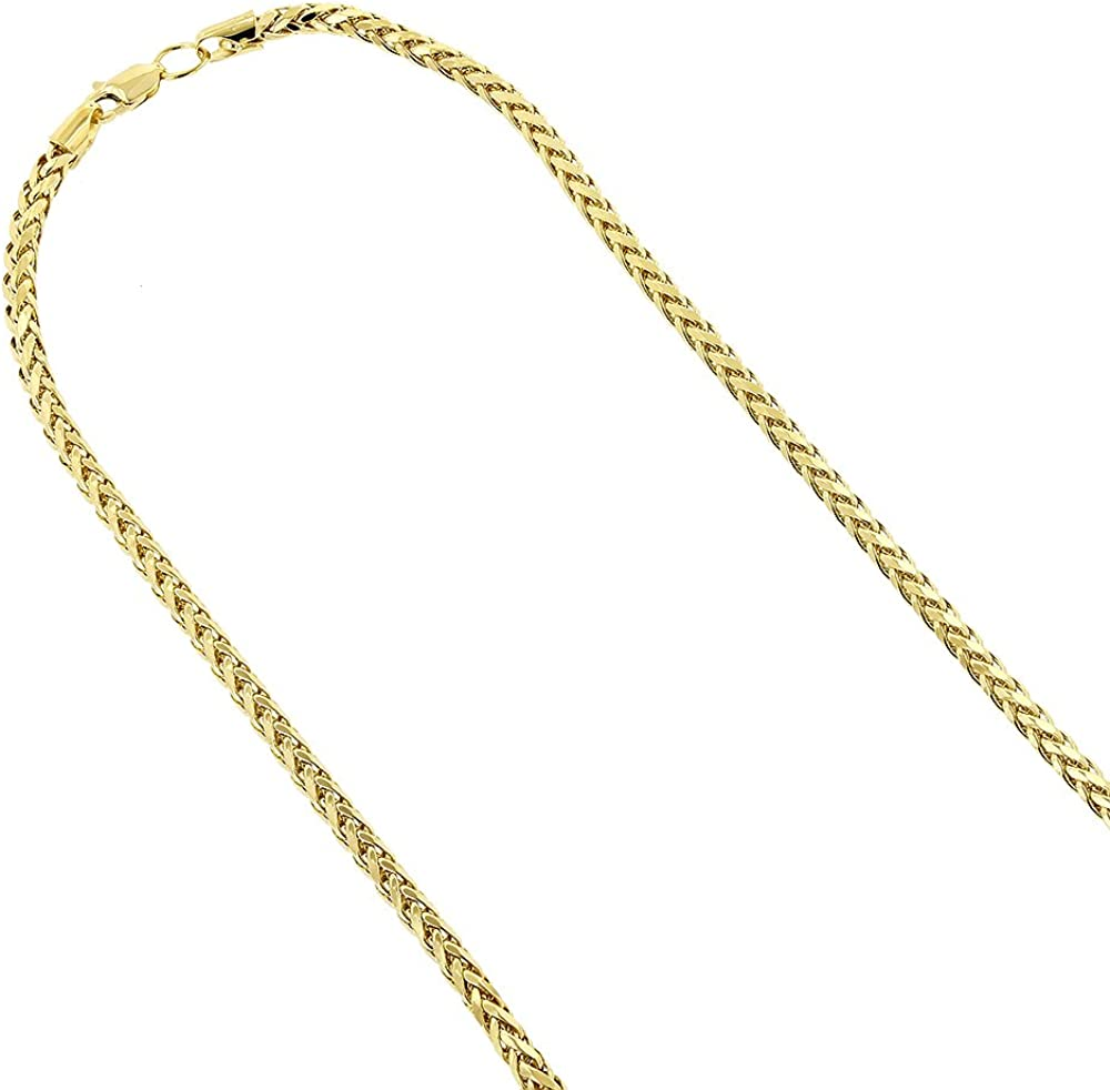 WHEAT CHAIN 14KT GOLD SQUARE WHEAT CHAIN WITH LOBSTER LOCK 22 INCHES LONG